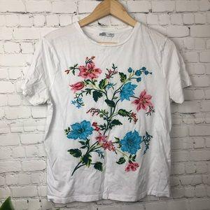 Zara Embroidered Tee